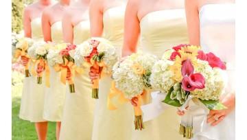 Γάμος με Εντυπωσιακό Κίτρινο Χρώμα!
