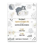 Προσκλητήριο Βάπτισης ο Μικρός Αρκούδος στο Συννεφάκι