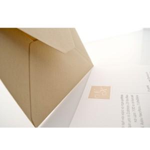 Τετράγωνο Προσκλητήριο Γάμου με Μονογράμματα