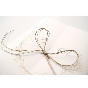Τρίπτυχο Προσκλητήριο Γάμου με Στεφάνι από Κλαδιά
