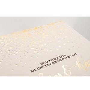 Πρόσκληση Γάμου με θέμα Χρυσή Βροχή