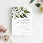 Πρόσκληση Γάμου Με Άνθη Πορτοκαλιάς