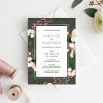Σύγχρονο Μοντέρνο Προσκλητήριο με Άνθη