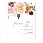 Καλλιτεχνική Watercolor Πρόσκληση με Τριαντάφυλλα
