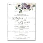 Πρόσκληση Γάμου με Floral Σχεδιασμό