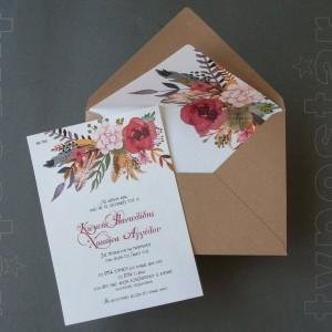 Ανθικό Προσκλητήριο Γάμου